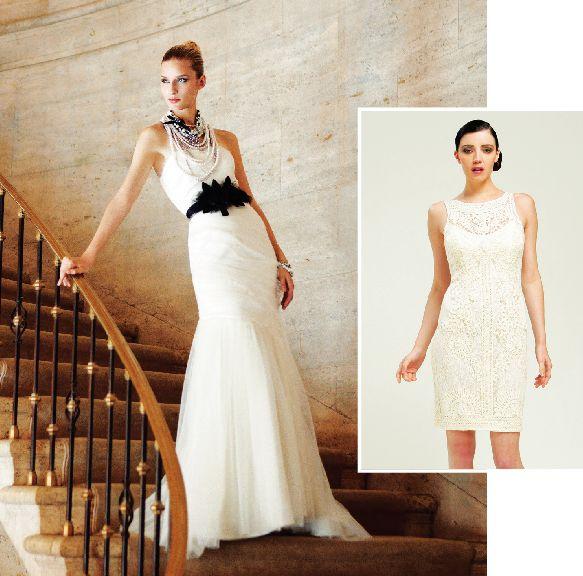 White House Black Market Left Simply Stylish Capital City Wedding